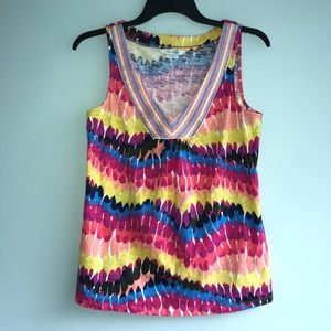 Anthropologie BODEN Colorful Sleeveless Tank Top